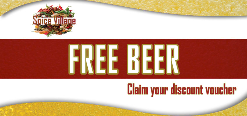 Free beer for friends of Spice Village