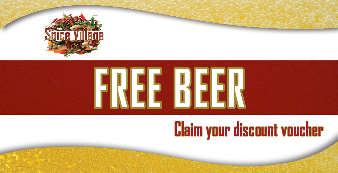 friends of Spice Village free beer promotion