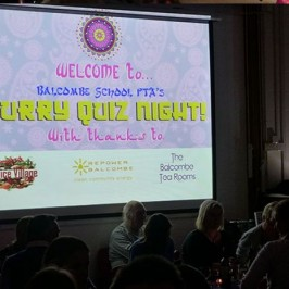Spice Village sponsor quiz night at Balcombe School